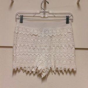 White patterned shorts!!